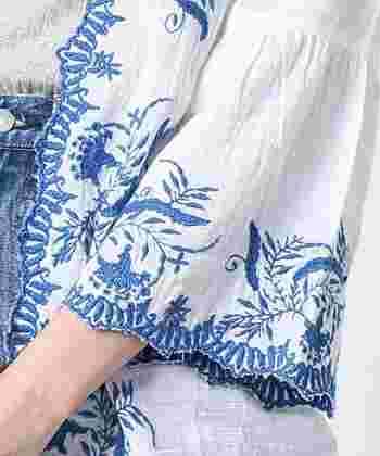 春夏コーディネートのマストアイテム*【刺繍ブラウス・ワンピース】