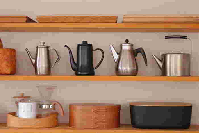 やかん類をさっぱりときれいに磨き上げておくことで、お茶やコーヒーまでひと味違った美味しさを感じるようになります。