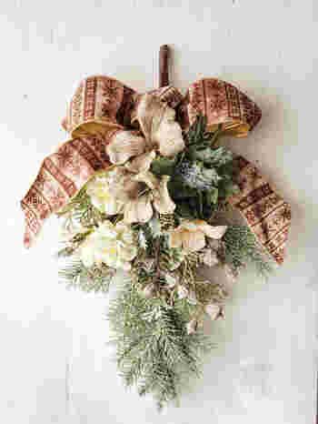 クリスマスリースよりも簡単♪おしゃれな壁飾り「スワッグ」の作り方をご紹介