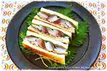 ちょっと変わったところで、しめサバのサンドイッチです。 このメニュー、あの『美味しんぼ』に登場した一品。究極の〆料理、かどうかはお試しあれ♪