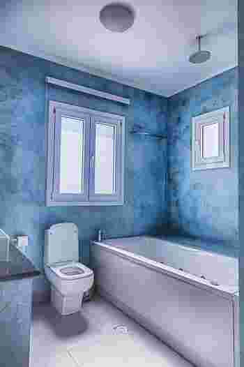 生活感のあるトイレも、色を取り入れるとぐっとおしゃれな空間に。