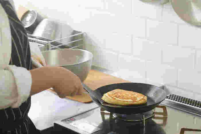 パンケーキもふわふわに仕上がります。