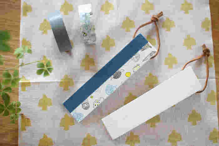 ドアストッパーに自分好みのマスキングテープを張るだけで、可愛らしいドアストッパーに。小さなものでも、お気に入りのものにリメイクするのは楽しいですね。