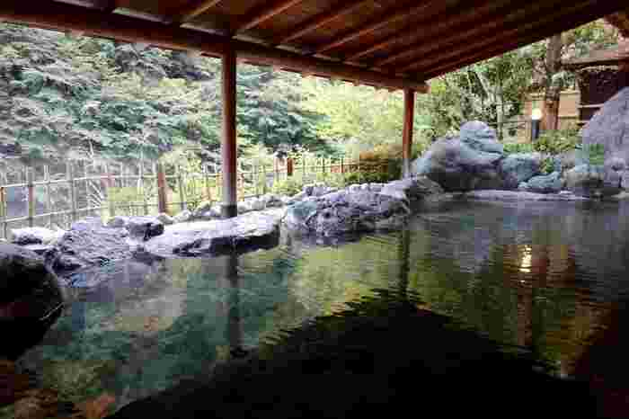 慶雲館で入れる西山温泉は、中臣鎌足(藤原鎌足)の息子・藤原真人により発見されたといわれる名湯。発見した年が「慶雲」という元号であったため、宿には慶雲館という名が付けられたそうですよ。