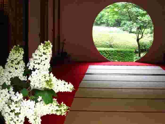窓からの景色は季節ごとにその表情をかえて私たちを楽しませてくれます。その美しい景色は人々を魅了し、鎌倉の観光スポットとして旅行・紫陽花のシーズンには賑わいを見せています。