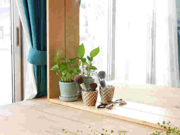 自分の体を潤したら、次は植物にも水やりを。自分や家族のことだけでも精一杯になる慌ただしい朝。でも少しだけ時間をつくって植物のお手入れをすることも心の余裕に繋がります。  心の余裕を持つことで、自分や家族やも優しくなれる。イライラしがちな朝だからこそ、緑に癒され爽やかに1日をスタートさせたいですね。