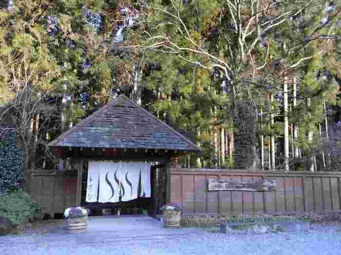 ちょっと優雅に日帰り温泉を楽しみたい方は、鬼怒川温泉駅からタクシーで約10分の静かな川のほとりにありる、鬼怒川プラザホテル系列の「あけび」はいかがでしょう?ここでは足湯や岩盤浴、2つの露天風呂を設けた10の個室貸切露天風呂があります。