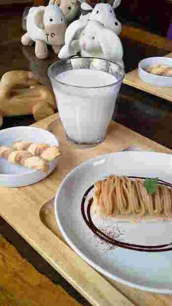こちらはキッズプレート。小さなミルクシュガーパンとケーキに、思わずほっこりしちゃいます。