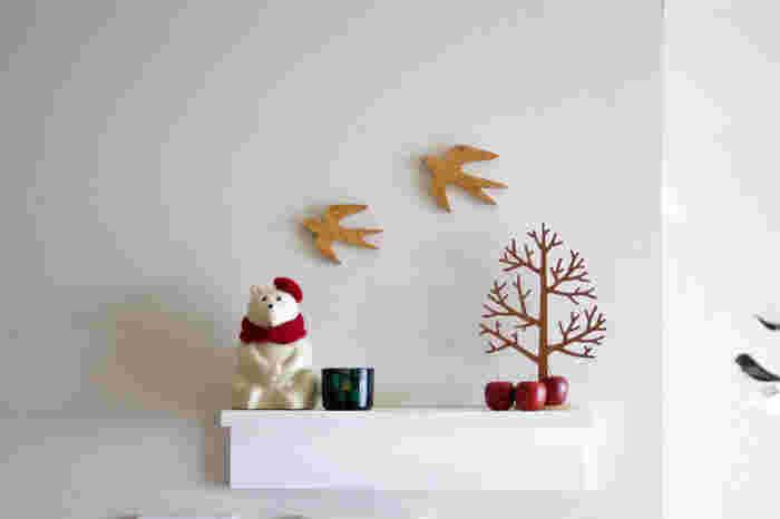 季節感のある小物を飾るのもおしゃれですね。季節ごとに小物を変えて、そのシーズンを楽しむのもいいでしょう。