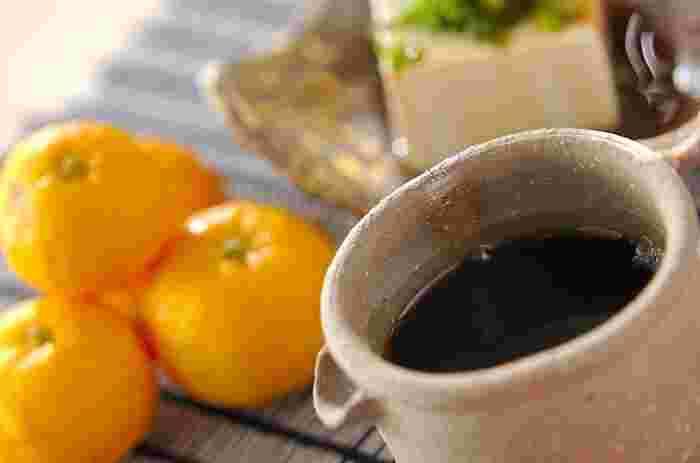 10分もあればできてしまう簡単ぽん酢。香りもとってもいいんです♪昆布茶を使いますので、うまみも抜群。