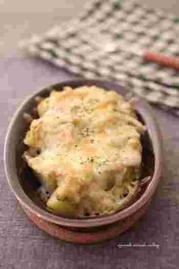 アボカドと明太子、豆乳を和えてソース代わりに使って。ホワイトソースより簡単かもしれませんね♪