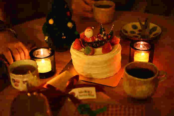 ■食事を楽しんだあとはクリスマスケーキ