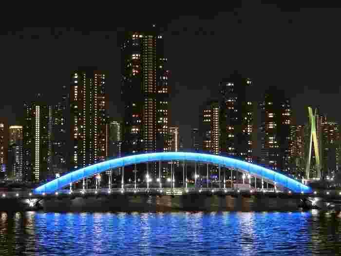 遠目にも美しい橋。