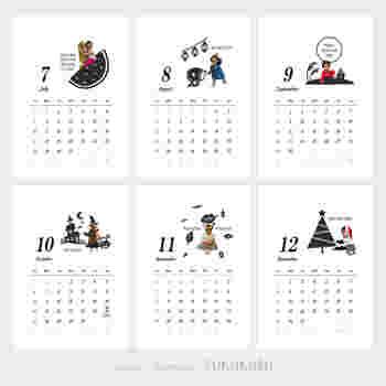 こちらも、「FUKUKURU」さんによるカレンダー。  カレンダーは、一年の中ですでに過ぎてしまった月を来年の月の分に変えることができるので、カレンダーを贈るには中途半端な9月にやってくる「敬老の日」でも、安心してギフトにできますね。