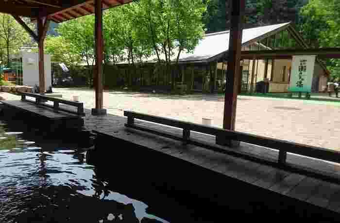 秋川渓谷での紅葉狩りを楽しんだ後におすすめなのが、内湯の大きな窓からも、露天からも紅葉が楽しめる瀬音の湯。pH10.1のお湯は美肌の湯としても人気です。