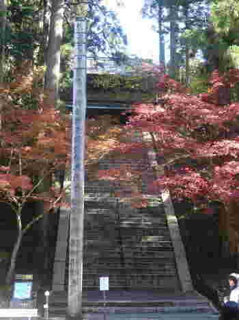 文殊楼は比叡山の総本堂となっている根本中堂の東側に位置しています。根本中堂から文殊楼への石段は険しいですが、文殊楼から眺める根本中堂も風情があるので、是非文殊楼にも立ち寄られることをおすすめします。