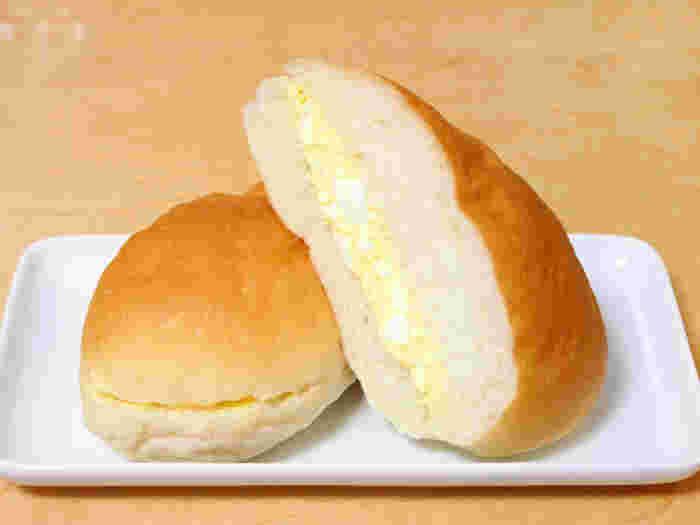 調理パンの中でもオーソドックスな「たまご」。それ以外の野菜は入らず、たまごとパンの優しい味わいで素朴なあたたかさを感じます。