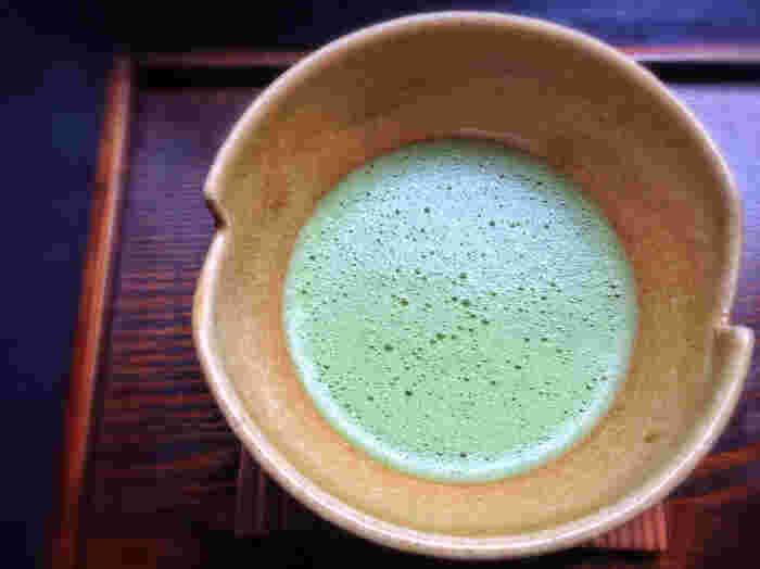 和食カフェらしくおいしい抹茶もいただけます。カフェだけの利用もできるので、ランチ以外でもおすすめです。