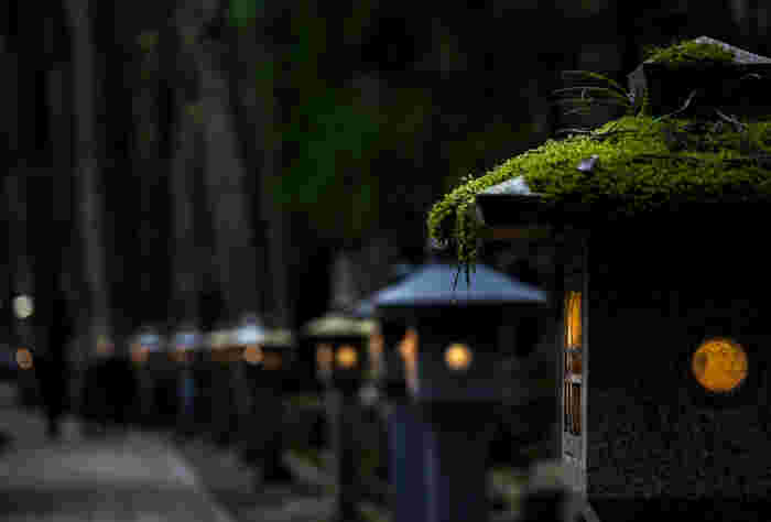和歌山県北部、大阪府との境界近くの紀伊山脈に位置する高野山の町は、周囲を山々に囲まれており標高800メートルの場所にある盆地です。