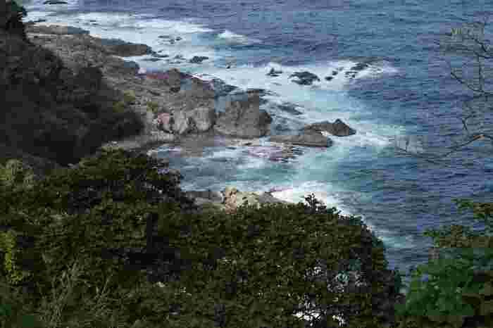 伊根町北部に位置するカマヤ海岸は丹後半島最北端に位置する経ヶ岬から蒲入へと続く海岸です。複雑で入り組んだ海岸線、海抜数百メートルを超える切り立った断崖、打ち寄せては砕け散る荒波、荒々しい日本海が織りなすカマヤ海岸では絶景が広がっています。