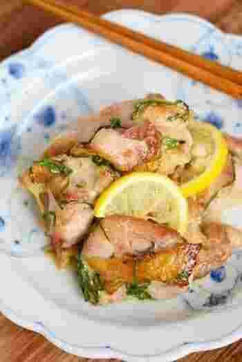 レモンの酸味と青ジソの香りが元気を作ってくれます。お弁当にも◎