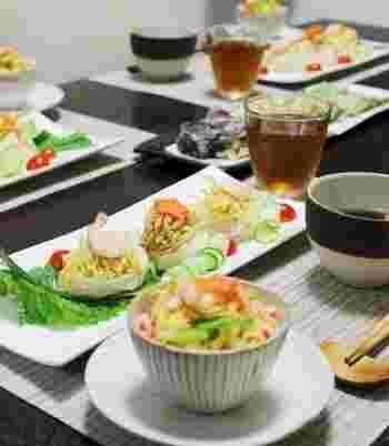 ・七夕素麺 ・七夕ミニちらし ・夏野菜の天ぷら ・ベトナムコーヒー風クラッシュゼリー  「そうめん」も「ちらし」もある欲張りメニューです♪
