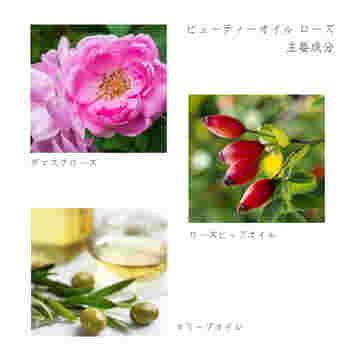 南仏プロヴァンスで育ったオリーブ果実から採れるピュアオイルをベースに、ダマスクローズとローズヒップオイルが入っています。薔薇のエキスは保湿やエイジングケアに良いとされており、乾燥が気になる秋冬のケアにもぴったり。女性らしい優雅な香りも、気持ちを優しく整えてくれます。