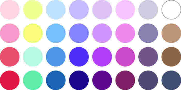 初夏の雨に咲く紫陽花を思わせる、スモーキーな夏のグループ。ソフトで優しく、明るい色が似合うタイプです。