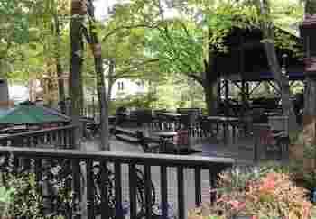 おススメはテラス席でのランチ。那須の新鮮な空気を感じながら、のんびりとお食事を楽しめます。