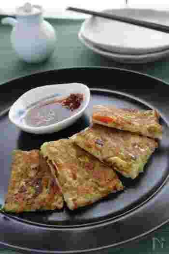 おからパウダーと片栗粉で作るチヂミは、カリッフワッ食感でとっても美味しい!腹持ちも良いですよ。具沢山にして、豊かな食感で召し上がれ♪