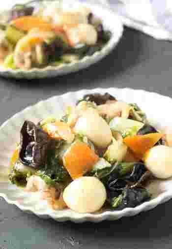 とろっとした餡にたっぷりの野菜を入れることで、子どもでも手軽に食べることができます。ご飯の上にかけても良し、うどんにかけても良しで万能です。