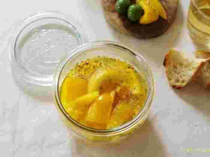 こちらは塩レモンのピクルス。お料理にも使えそうでGOOD。