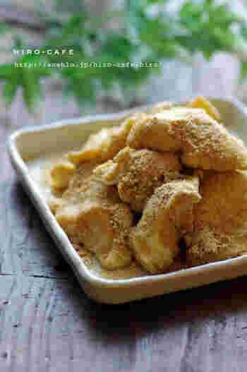 材料たった3つで簡単なのにおいしい豆乳餅。とろとろな食感がたまりません!