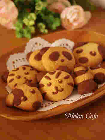 プレーンとココアの生地を好きな形に成形して、簡単オリジナルクッキーを作っちゃいましょう。何ができるかな~?作る過程もお子さんと一緒に楽しめますね。