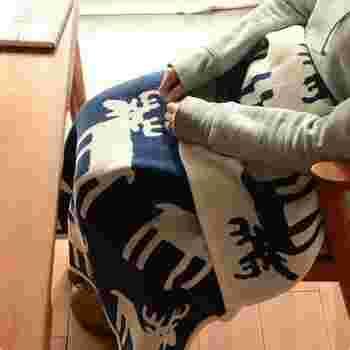 こちらは、オーガニックのシュニールコットン糸で織られたブランケットで、大人はもちろん赤ちゃんにも優しい肌触りが特徴。秋から冬にかけてちょうどいいアイテムです。