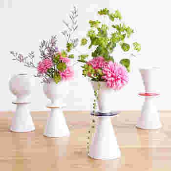 こちらもリサ・ラーソンの作品。リサが長年温めてきたデザインが波佐見焼きの花瓶になりました。 上部が丸くなっているのが「HILDA」、円錐形になっているのが「FREJA」。リサのお孫さんの名前から付けられたそう。