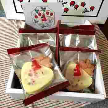 「ハローベリー」は、苺の形に焼き上げたサブレに、つぶつぶいちごをミックスしたホワイトチョコレートを重ねています。オードリーのお菓子のほとんどは個包装なので、会社などでたくさんの人に手軽に渡せるのも嬉しいポイントです。