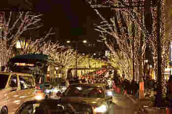 毎年恒例、表参道の欅並木がシャンパンゴールドのイルミネーションに染まるのは、2018年は11月29日から12月25日(低木は2019年1月6日)の期間限定。クリスマスの頃は混雑が予想されるので、時期を調整してお出かけしてくださいね。