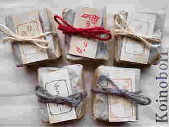 ブラウニー専門店と言っても、種類は豊富。王道のチョコレートの他、ラズベリーやクルミなど魅力的なラインナップ。包装にはプラスチック製品を使わず麻紐を使うなど、環境への配慮も心掛けるお店です。