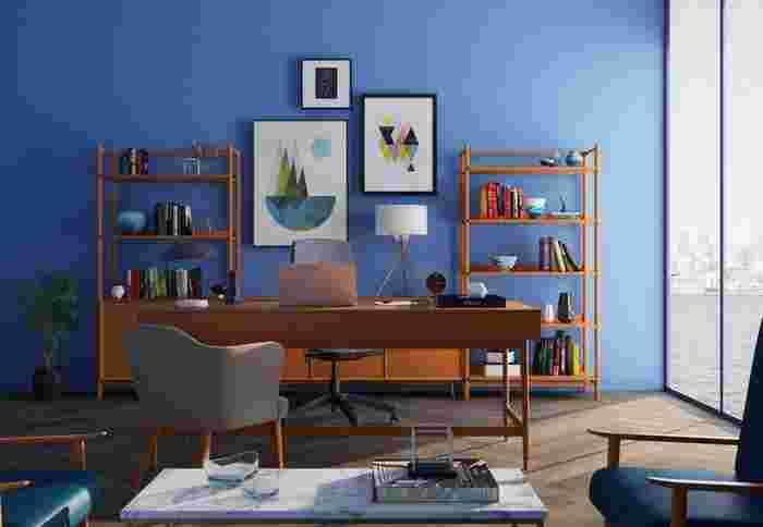 こんな鮮やかなブルーのカラーパレットは個性的で素敵ですね。  カラーパレットの選び方に、それぞれの人の好みや特徴が大きく表れ、そこからオリジナリティが生まれます。