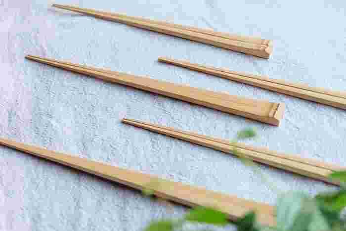 魚を食べる時に細い箸が欲しいけれど、普段は箸先が丸い物の方が好み…という場合は、こういった竹箸を使うのもおすすめです。