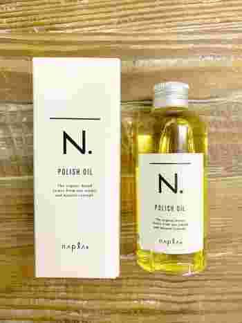 髪の表面に自然なツヤ感を出してくれるヘアオイル。お風呂上がりに使えばアウトバストリートメントにもなります。