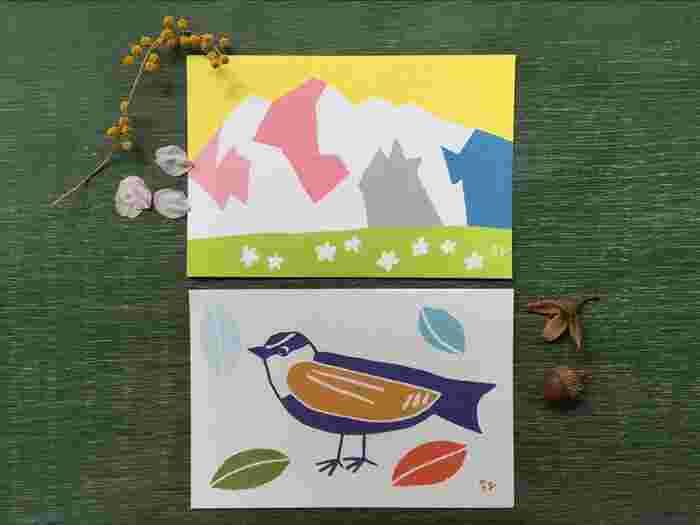 友里さんとイラストレーター落合恵さんとのコラボで制作された、自然のなかにある「色」を探して遊ぶ『森の色あわせ』というネイチャーゲーム用の素敵なカード。 日本の伝統色と可愛いイラストで持っているだけで嬉しくなるカードです。