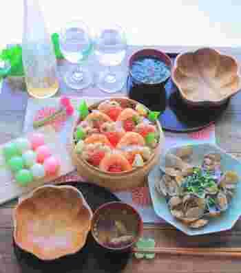 今年は自宅でお祝い*七五三にぴったりの〈鯛・お寿司・お吸い物〉レシピ