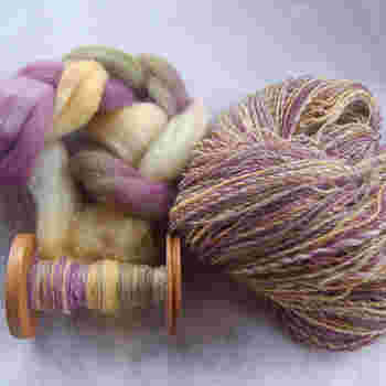 こちらもとても美しい糸ですね。この美しい糸から一体どんなものが生まれるのか、それもまた楽しみです。
