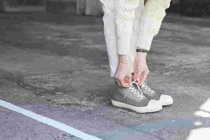 キレイな形が持続することも、ムーンスターの自慢の一つ。数ヶ月履いた後でも「シルエットがキレイなまま」と実感できるはずです(画像提供:MOONSTAR)