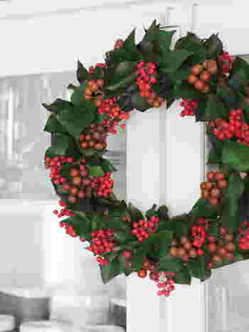クリスマスといえば、レッドとグリーン!この2色があるだけで、クリスマスの雰囲気づくりはばっちりです。それぞれ植物からも取り入れることができる色なので、うまく組み合わせてみましょう。