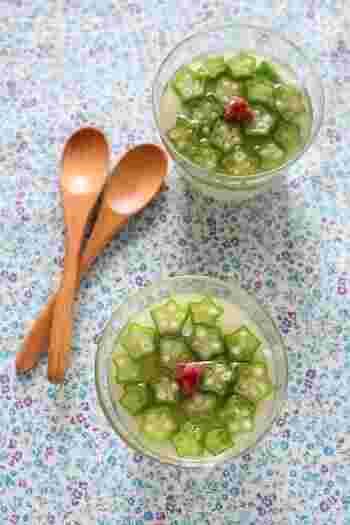 初夏にピッタリなかわいいレシピ。長芋には食物繊維も豊富。お通じが悪いときにもオススメのさっぱりした前菜レシピです。