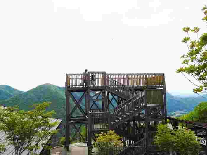 山頂駅の隣にある展望台からの眺めは最高。正面には筑波山、北川には那須山系の鶏頂山が一望できます。お天気が良い日は、遠くに東京スカイツリーが見えることも。春は新緑、秋は紅葉と四季の移ろいを間近に感じられるのも魅力です。