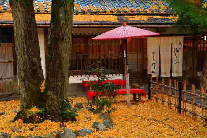 「京料理湯どうふ 竹仙」も境内にある食事処。 嵐山・嵯峨野は、湯豆腐が名物。多くの湯どうふ専門店がありますが、ここ「竹仙」は、京都人にも知られる穴場的お店です。